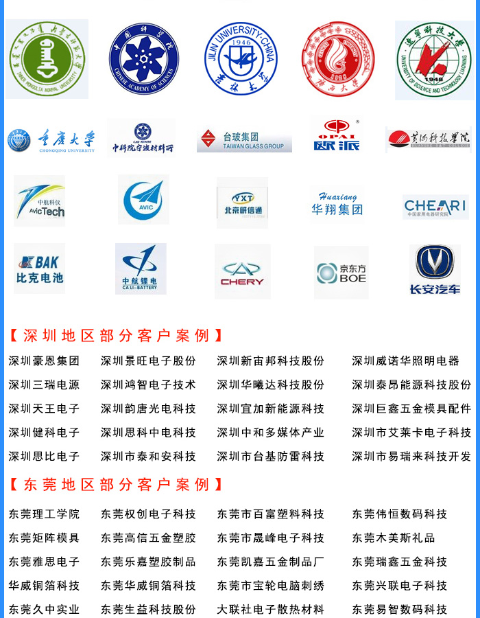Some customer cases in Guangdong Province